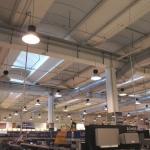 Impianto di illuminazione fabbricato commerciale
