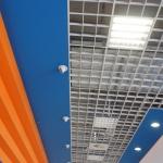 Impianto di illuminazione su contro soffitto