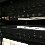 Dettaglio rack diffusione sonora